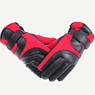 Fahrradhandschuhe / Ski-Handschuhe Winterhandschuhe Alles warm halten Skifahren Rot / Blau  Leinwand Freie Größe