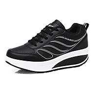 Buty płaskie-Damskie-Comfort-Płaski oncas-Czarny Czerwony Biały-PU-Casual