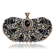 L.WEST Women's The Elegant Luxury Handmade Diamonds Evening Bag
