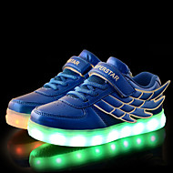 LED Girl's Sneakers Spring / Fall Comfort Tulle / PU Casual Flat Heel Magic Tape / LED Blue / Pink / White Walking