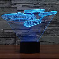 star wars Kriegsschiff Touch Dimm-3D LED-Nachtlicht 7colorful Dekoration Atmosphäre Lampe Neuheit Beleuchtung Weihnachtslicht
