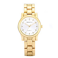 REBIRTH® Women's Simple Fashion Gold Alloy Strap Quartz Wrist Watch