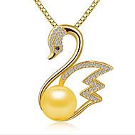 Dámské Náhrdelníky s přívěšky Přívěšky Perly Stříbro Zirkon Módní Rozkošný Přizpůsobeno Stříbrná Zlatá Růžové zlato ŠperkySvatební Párty