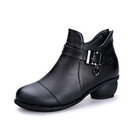Women's Dance Shoes Boots Breathable Low Heel Black/Red/Brown
