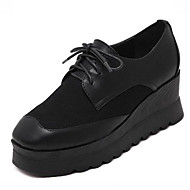 Women's Sneakers Spring / Fall Creepers Leatherette Outdoor Platform Lace-up Black Others
