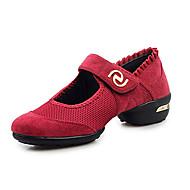 Sapatos de Dança(Preto Vermelho Verde) -Feminino-Não Personalizável-Tênis de Dança