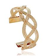 Bransoletki Bransoletki cuff Stop Tube Shape Modny Biżuteria Prezent Złoty / Srebrne,1szt