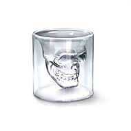 Cool Transparent Creative Scary Skull Head Design Novelty Drinkware Wine Shot Glass Cup 150ML