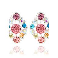 Øreringe Oval Shape Smykker 1 par Mode Bryllup Legering Dame Udvalgte Farver