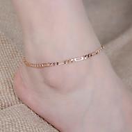 Dames Enkelring /Armbanden Legering Modieus Eenvoudige Stijl Zilver Gouden Vrouwen Sieraden Dagelijks Causaal 1 stuks