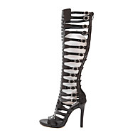 Women's Boots Spring / Summer / Fall Fashion Boots / Gladiator Leather Party & Evening / Dress Stiletto Heel Buckle