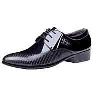 Masculino-Oxfords-Conforto Sapatos formais-Salto Baixo-Preto Marrom-Couro Envernizado-Escritório & Trabalho Casual Festas & Noite