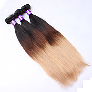 3Pcs/Lot14''-26'' Eurasian Virgin Hair Human Hair Extensions Silk Straight 3tones 1B/4/27  Ombre Hair Weave