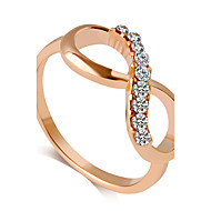 Ring Fashion Wedding / Party / Daily / Casual Jewelry Alloy Women Band Rings 1pc,6 / 7 / 8 / 9 Gold