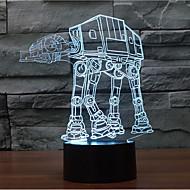 star wars Hund Touch Dimm-3D LED-Nachtlicht 7colorful Dekoration Atmosphäre Lampe Neuheit Beleuchtung Weihnachtslicht
