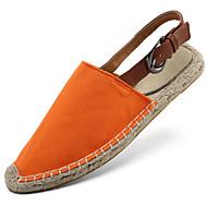 Bez podpatku-Kůže-Plátěnky-Unisex-Modrá / Bílá / Oranžová-Atletika-Plochá podrážka
