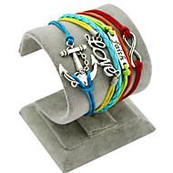 Bracelet Bracelets Loom Bracelet Alliage Forme Géométrique Ancre Amour Ajustable Couche double Bohemia style Quotidien Décontracté Bijoux