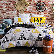 Geometry 800TC bedding sets Queen King size Bedlinen printing sheets pillowcases Duvet cover sanding Cotton Fabric