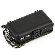 Anmuka Fishing Tackle Box Fly Fishing Box Spinner Bait Minnow Popper 9 Compartments Fishing Accessories