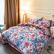 Colorful flower 800TC bedding set Queen King size Bedlinen printing sheets pillowcases Duvet cover sanding Cotton Fabric