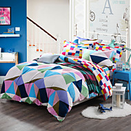 Geometry Soft Print Bedlinen Fleece winter bedding set queen king size soft bedsheet pillowcase Duvet cover 4pcs bed set