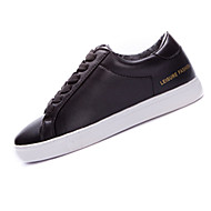 Dame-PU-Flat hæl-Rund tå-Sneakers-Fritid / Sport-Svart / Hvit