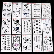 30 Tatoveringsklistremerker Andre Ikke Giftig MønsterDame Herre Voksen Tenåring Flash Tattoo midlertidige Tatoveringer