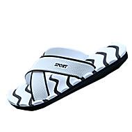 Herre-Tekstil-Flat hæl-Sandaler-Sandaler-Fritid-Svart / Blå / Hvit / Marineblå