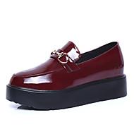 נעלי נשים-שטוחות-דמוי עור-פלטפורמה / שפיץ / מגפי אופנה / נעלי סקטים / נוחות / מגפיי בוקרים\מערב פרוע / גלדיאטור-שחור / אדום-שמלה / קז'ואל