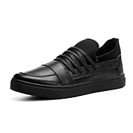 Men's Loafers & Slip-Ons Summer Round Toe PU Casual Flat Heel Others / Lace-up Black / Red / White Others
