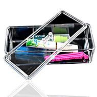 kiváló minőségű, új átlátszó akril kozmetikai szervező tároló tartó kozmetikai smink szerszám nők tároló doboz tetővel