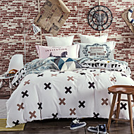 White 800TC bedding sets Queen King size Bedlinen printing sheets pillowcases Duvet cover sanding Cotton Fabric
