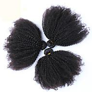 "6A Mongolian Kinky Curly Virgin Hair 3 Pcs Mongolian Afro Kinky Curly Hair 10""-26"" Human Hair Extensions"