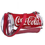 Women Patent Leather  Casual Coke Bright Pattern Shopping Shoulder Bag Tote Coin Purse Bucket bags