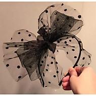 Women's Lace Headpiece-Wedding Headbands 1 Piece Black