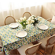 American Village Thick Cloth Tablecloths Geometric Diamond Printing Side Table Tablecloths (140 * 140cm)