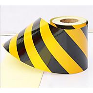 5cm schwarz und gelb reflektierenden Film Supermarkt Isolation befestigt Farbe reflektierende Warnband