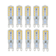 10 pcs YWXLight Dimmable 6W G9 LED Bi-pin Lights T 22 SMD 2835 450-550 lm Warm White / Cool White (AC 220V / AC 110V)