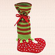 1db karácsonyi édességet táska zöld manó csomagtartó harisnya xmas fesztivál party dekoráció ajándék