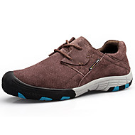 Men's Sneakers Spring / Fall Comfort Leather Outdoor Flat Heel Lace-up Blue / Brown / Camel Hiking
