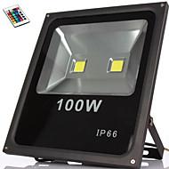 100w rgb IP66 dálkové ovládání vodotěsné vedl před povodněmi světla led lampy (85-265v)