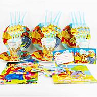Medvídek Pú 92pcs narozeninové party dekorace pro děti evnent zásoby strany party dekorace 12 lidí používá
