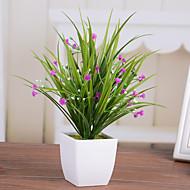 1 ענף פלסטיק צמחים פרחים לשולחן פרחים מלאכותיים