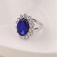 נשים טבעות הצהרה אופנתי זירקון סגסוגת תכשיטים עבור חתונה Party יום הולדת