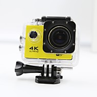 Sports Action Camera 4K  WIFI Waterproof Action Camera High Defenition 2.0 Inch Sports DV 360 Degree  Yellow