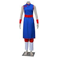 Inspirerad av Dragon Ball Son Goku Animé Cosplay Kostymer/Dräkter cosplay Suits Enfärgat Vit / Röd / Blå ÄrmlösCheongsam / Byxor /