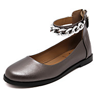 Women's Flats Fall Mary Jane / Round Toe PU Casual Flat Heel Others Black / Silver Others
