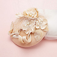 Women's Pearl / Crystal / Tulle / Flannelette Headpiece-Wedding / Special Occasion Fascinators / Hats 1 Piece