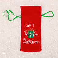 1pc επιστολή κρασί τσάντα μπουκάλι Χριστουγεννιάτικο τραπέζι δώρο διακόσμηση δείπνο winebottle κάλυμμα
