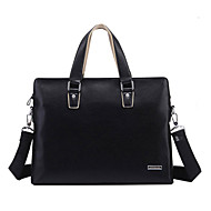 Unisex's Genuine Cow Leather Laptop Briefcase Shoulder Bag